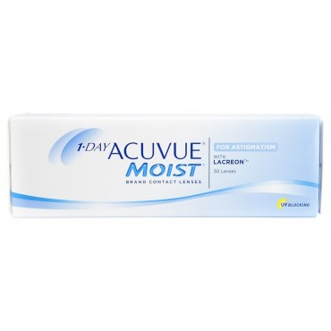 1-Day Acuvue Moist for Astigmatism (30) contact lenses from www.interlenses.co.uk