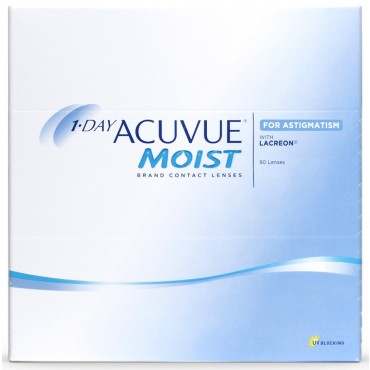 1-Day Acuvue Moist for Astigmatism (90) contact lenses from www.interlenses.co.uk