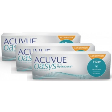Acuvue Oasys 1-Day for Astigmatism (90)  contact lenses from www.interlenses.co.uk