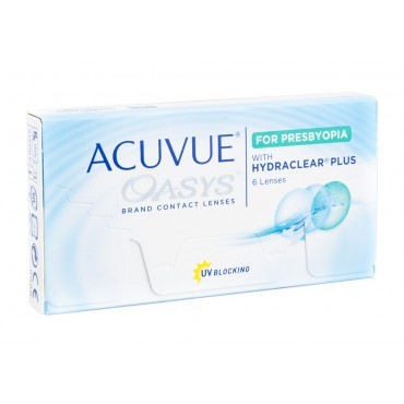 Acuvue Oasys for Presbyopia  contact lenses from www.interlenses.co.uk