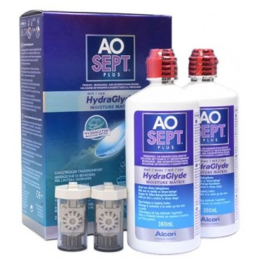Aosept Plus Hydraglyde - 2 x 360ml. from www.interlenses.co.uk