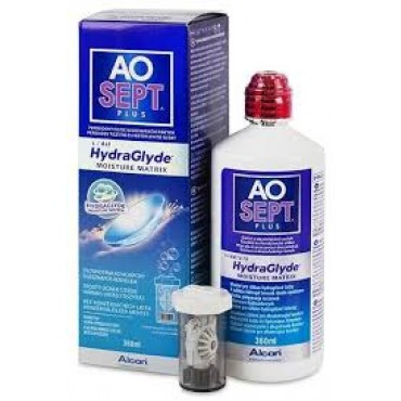 Aosept Plus Hydraglyde - 1 x 360ml. from www.interlenses.co.uk