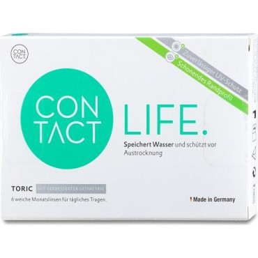 Contact Life Toric  contact lenses from www.interlenses.co.uk