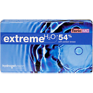 Extreme H2O 54% toric (6) contact lenses from www.interlenses.co.uk