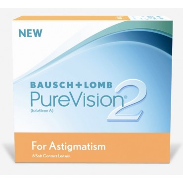 Purevision2 For Astigmatism (6) contact lenses from www.interlenses.co.uk