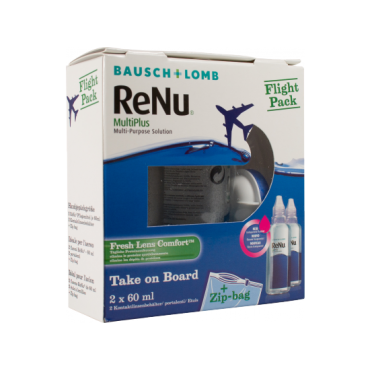 ReNu MultiPlus Flight Pack 2 x 60 ml from www.interlenses.co.uk